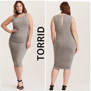 Torrid Jersey Cinch Bodycon Dress